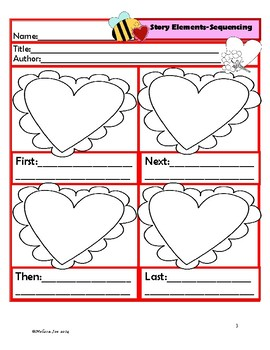 Comprehension Reading Reponse Sheets-Valentine's Day Theme-use with any book!