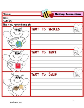 Reading Comprehension Sheets-Valentine's Day Theme-use wit