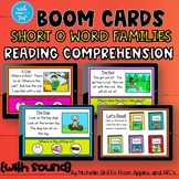 Reading Comprehension Short O Word Family Boom Cards