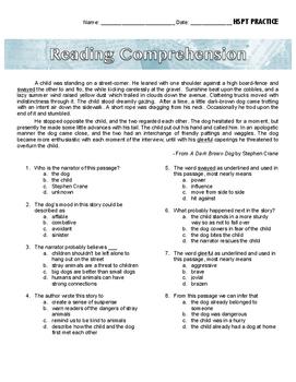 Reading Comprehension - Short Passage (Fiction)