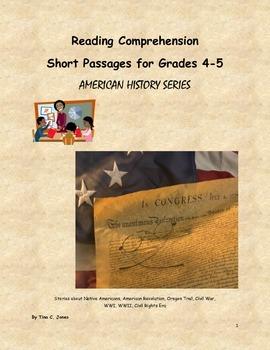 COMMON CORE Reading Comprehension:  More Short Passages & Assessments