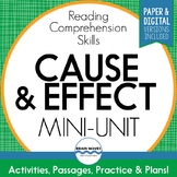 Cause and Effect Reading Comprehension Passages & Activities  (Google Version)