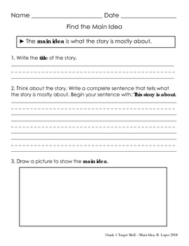 Reading Comprehension Skill Pages