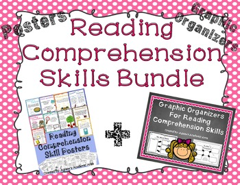 Reading Comprehension Skills Bundle: Posters and Graphic Organizers