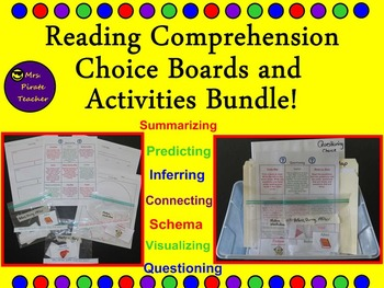 Reading Comprehension Skills Choice Boards and Activities Bundle!