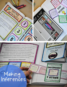 Reading Comprehension Interactive Notebooks - Main Idea, Inferences, Predictions