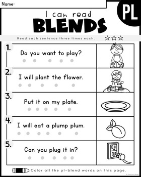 Reading Comprehension Skills - L BLENDS Simple Sentences [I Can Read]