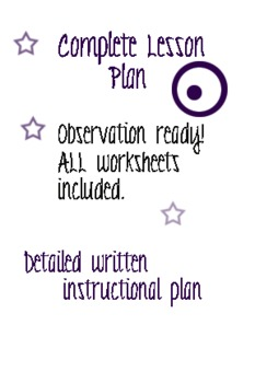 Reading Comprehension Skills Lesson Plan- TEAM observation ready