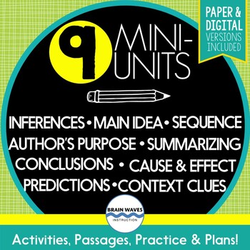 Reading Comprehension Skills - MEGA BUNDLE - 9 Mini-Units