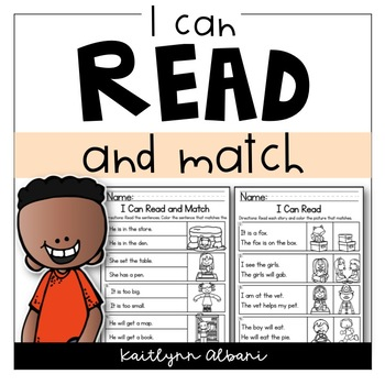 Reading Comprehension Skills - Read and Match [I Can Read]