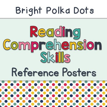 Reading Comprehension Skills Reference Posters: Bright Polka Dots