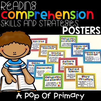 Reading Comprehension Skills Reference Posters: A Pop of Primary theme