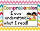 Reading Comprehension Skills Reference Posters: Bold Chevron