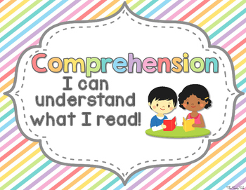 Reading Comprehension Skills Reference Posters: Pretty Pastels theme