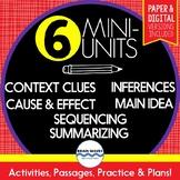 Reading Comprehension Passages and Questions SUPER BUNDLE - 6 Mini-Units