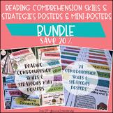 Reading Comprehension Skills & Strategies Posters + Mini-P