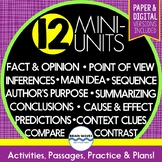 Reading Comprehension Passages and Questions - 12 Mini-Units (Google Compatible)