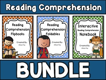 Reading Comprehension Skills and Strategies Bundle Foldables and Flipbooks