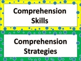 Reading Comprehension Skills and Strategy Cards