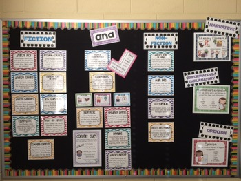 Reading Comprehension Skills and Types of Writing Posters