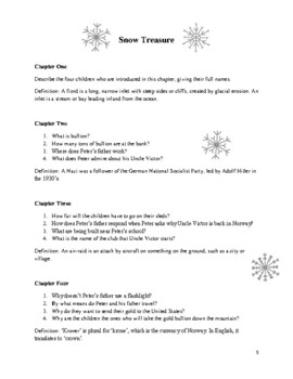 Reading Comprehension: Snow Treasure