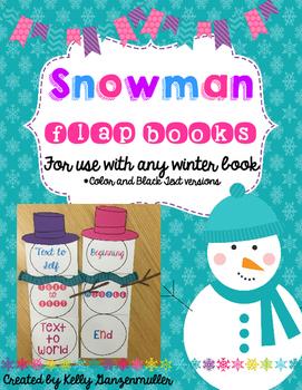 Reading Comprehension Snowman flap books