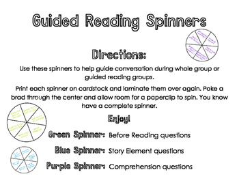 Reading Comprehension Spinners