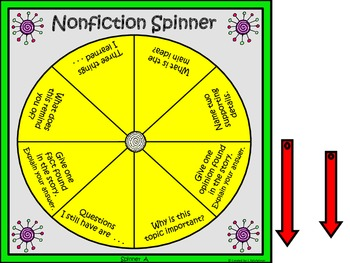Reading Comprehension Spinners (Fiction/Nonfiction)