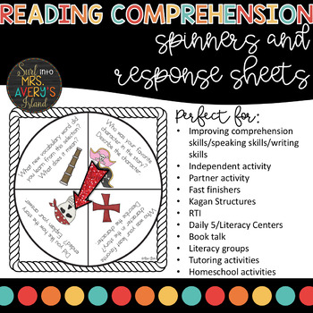 Reading Comprehension Spinners for Small Group or Partner Reading