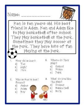 Reading Comprehension - Sports!