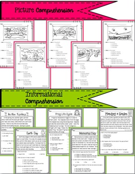 Reading Comprehension Passages and Interactive Activities - Spring BUNDLE