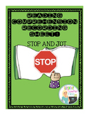 Reading Comprehension:  Stop and Jot Recording Sheet
