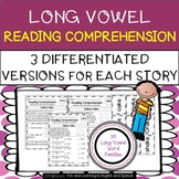 Reading Comprehension Stories & Questions:Long Vowel Families-Differentiated
