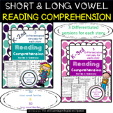 Reading Comprehension Stories - Short & Long Families BUNDLE - Differentiated