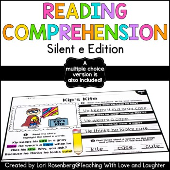 Reading Comprehension Stories {Silent e Edition}