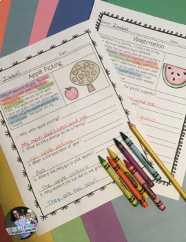 """Reading Comprehension Passages & Questions (""""WH"""" questions){FREE SAMPLE}"""