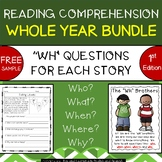 "Reading Comprehension Passages & Questions (""WH"" questions){FREE SAMPLE}"