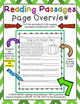 Reading Comprehension Passages & Questions (