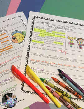 """Reading Comprehension Stories & """"WH"""" Questions {Whole Year - 12 Months}"""