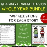 Reading Comprehension Passages & Questions Whole Year Bundle