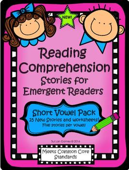 Reading Comprehension Stories for Emergent Readers - Short Vowel Pack