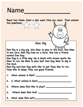 Reading Comprehension Story
