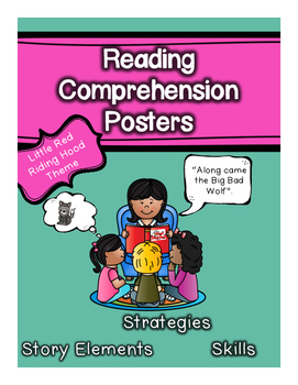 Autism Reading Comprehension/Story Elements Posters (Red R