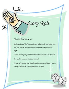 """Reading Comprehension """"Story Roll"""" Center"""