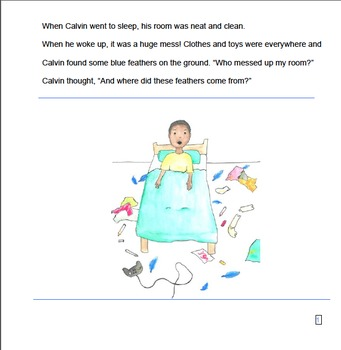 Reading Comprehension Story - simple sequencing, inferencing, attributes