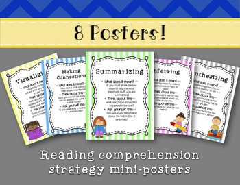 Reading Comprehension Strategies -  8 Mini-Posters!