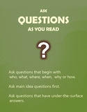 Reading Comprehension Strategies: Ask Questions Poster
