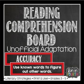 Reading Comprehension Strategies Display Board Chalkboard Themed
