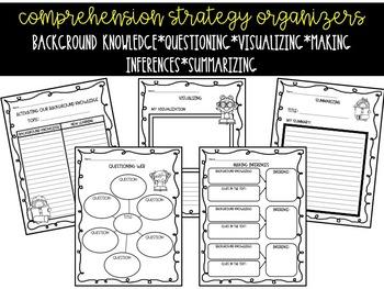 Reading Comprehension Strategies Bulletin Board and Organizer Set