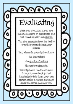 Reading Comprehension Strategies: Evaluating